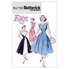 Butterick Ladies Easy Sewing Pattern 4790 Walkaway Vintage Style Wrap Dress (...