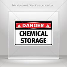 Decals Sticker Danger Chemical Storage Motorbike Bike Garage st5 X84X7