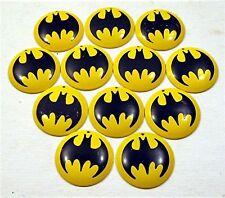 12 Batman Logo Metal Dome Vending Charm Old Store Stock