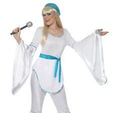 Super Trooper Costume Pop Star 1970s Adult Womens Ladies Fancy Dress Outfit