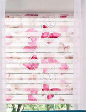 Klemmfix Doppelrollo Klemmrollo Duo Easyfix Rollo Schmetterling pink rosa