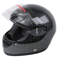 DOT Adult Carbon Fiber Full Face Motorcycle Helmet Street Bike S M L XL XXL New