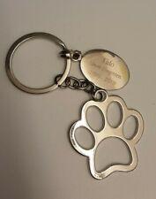 Personalised Keyring Paw Prints Cat Dog Pet Memory Loss Present Gift Box
