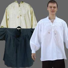 Freizeithemd 3 Farben XXXXL Übergröße 4XL langärmeliges Hemd langarm Mittelalter