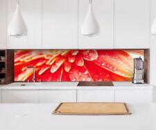 Adesivo Cucina Parete Fiore Acqua Gocce Lamina Paraspruzzi Mobile 22A345