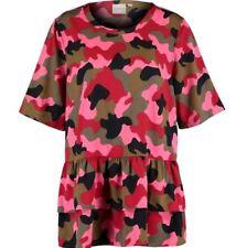 JUNAROSE Green & Pink Camo Blouse UK 20/EU 46/US 16