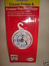 New Brannan Fridge Freezer Thermometer Temperature Gauge Round Plastic
