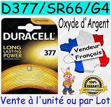 Piles DURACELL D377 G4 SR66W - Dispo aussi : CR1620 CR2016 CR2025 CR2032 CR2430
