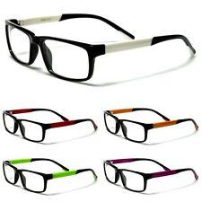 Nerd Mens or Womens Colorful Sharp Retro Throwback Clear Lens Glasses - NERD013