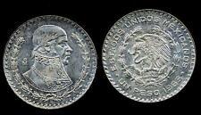 MEXICO Morelos Pavon 1 Peso 1965 AG  A/UNC