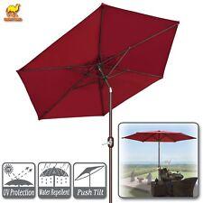 8.2ft Patio Umbrella Crank Tilt Table Garden Sunshade Deck Parasol Outdoor