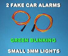FAKE CAR ALARM LED LIGHT- 3mm GREEN FLASHING 12v 24v  BLINK BLINKING FLASH