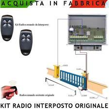 Ricevente 433,92 Mhz Kit 2 Radiocomandi Monocanale Interposta Cancello Esistente