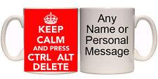 KEEP CALM AND PRESS CTRL, ALT, DELETE MUG & COASTER (K5) 11oz - 15oz GIFT