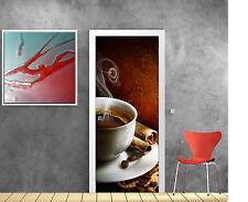 Sticker pour porte déco cuisine Café réf 735