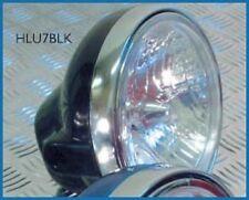 "Motorcycle Headlight 7 "" Universal Black 12v 25/25w NEW"