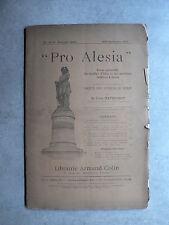 Revue PRO ALESIA n°14-15 1907 Fouilles Alise MONT-AUXOIS Pain d'Alesia PLANCHES