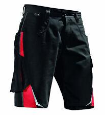 kurze Shorts Arbeitsshorts Kübler PULSSCHLAG Shorts Gr.: 40-66 schwarz/Mittelrot