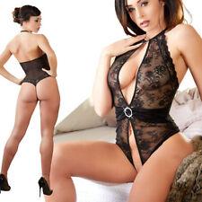 "Damen Body offen Spitzenbody transparent Stringbody sexy Lingerie S M L XL ""Nena"