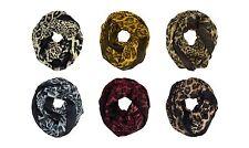 Leopard Cheetah Animal Print Block Circle Loop Wrap Wide Infinity Scarf Warm