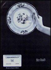 PUBLICITE BERNARDAUD PORCELAINE LIMOGES  AD 1965