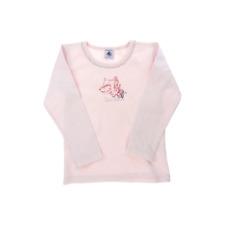Petit Bateau tee-shirt rose manches longues  fille 5 ans