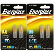 2x 2w Energizer LED G9 ECO Filament Capsule Bulb Warm/Daylight White (2w = 20w)