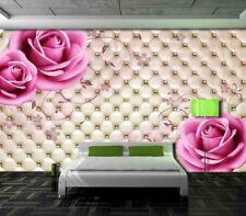 Cucchiaio d'argento e rosa molle 3D Tenda Bloccare Foto Stampa Tendaggio Drappo