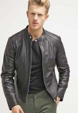 Leather Jacket for Men Black Biker Motorcycle Pure Lambskin Size S M L XL XXL