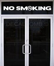 NO SMOKING w/ logo vinyl decal sticker sign bar grill store shop food vendor rzr