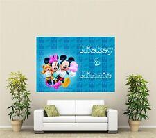 Disney Mickey & Minnie Mouse Gigante 1 pieza de arte de pared Cartel kr102
