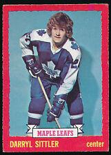 1973-74 O-Pee-Chee Hockey #132 DARRYL SITTLER (Toronto Maple Leafs) *NICE* Gray