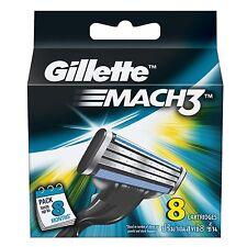 Gillette Mach3 Mach 3 Cartridges Pack 8 Cartridge blades | Free Shipping