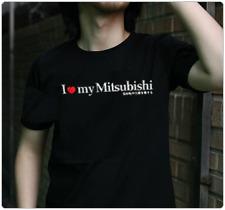 "Japanese JDM style T-shirt ""I Love my Mitsubishi"""