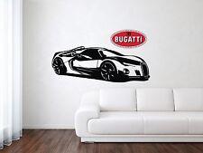 Bugatti Chiron Sport Racing Luxury Car Wall Decal Art Mural Vinyl Sticker