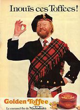PUBLICITE ADVERTISING  1981   GOLDEN TOFFIES bonbons caramels l MACKINTOSCH'S