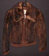 Vtg Shearling Jacket Zip Up Lambskin & Suede Jukie Canada Super Warm Lady's 9/10