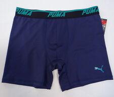 Men's Puma Sport Stretch Boxer Brief Underwear Blue 888435879527