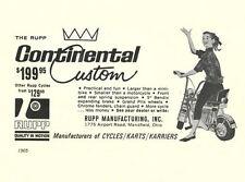 Vintage & Rare 1965 Rupp Continental Custom Mini-Bike Ad