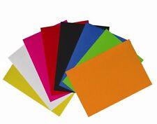 Qualità Feltro 1 mm di spessore FELTRO Foglio Tela Craft Sew tessuto Scrapbooking Fai da te
