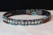 Rhinestone Dog Collar 1 Row Crystal Jewel diamante fancy premium USA made Bling!