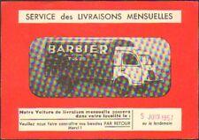 """TOURS (37) FOURGON RENAULT de LIVRAISON de CERAMIQUES """"BARBIER Freres"""" en 1957"""