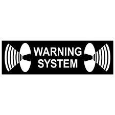 """6,5cm 2.56"""" lot Vinyl Sticker Home Door Window Shutters Security Warning System"""