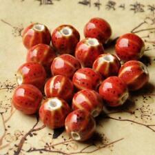 10pcs Ceramic Beads Vintage Glaze Porcelain Bracelet Jewelry Making DIY