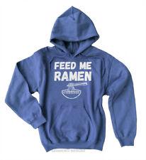 Feed Me Ramen Hoodie Funny Japanese Noodles Fleece Sweatshirt Noods Kawaii Mens