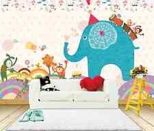 3D Netter Bösewicht Elefanten Fototapeten Wandbild Fototapete BildTapete Familie