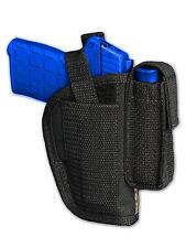 Barsony OWB Gun Holster w/ Mag Pouch for Star, Bersa 380 Ultra-Comp 9mm 40 45
