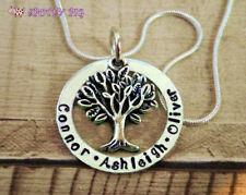 Collar Personalizado Nombres Mano Estampado Familia árbol de la vida, Madre Regalo Navidad