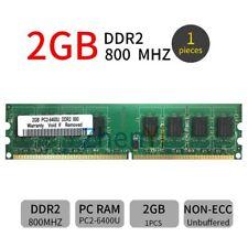2GB 1GB DDR2 PC2-6400U 800MHz 240Pin 1.8V Desktop Computer Green DIMM Memory UK