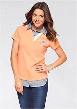 T-shirt femmes Stretch Avec Col de chemise bordée blouse haut 905210